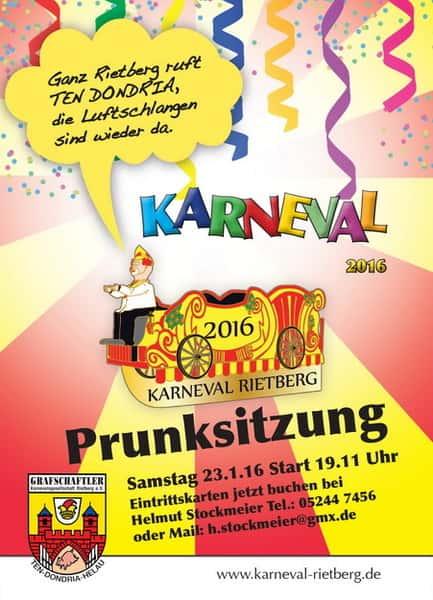 Einladung Zur Prunksitzung 2016 U203a Karneval Rietberg, Einladungen